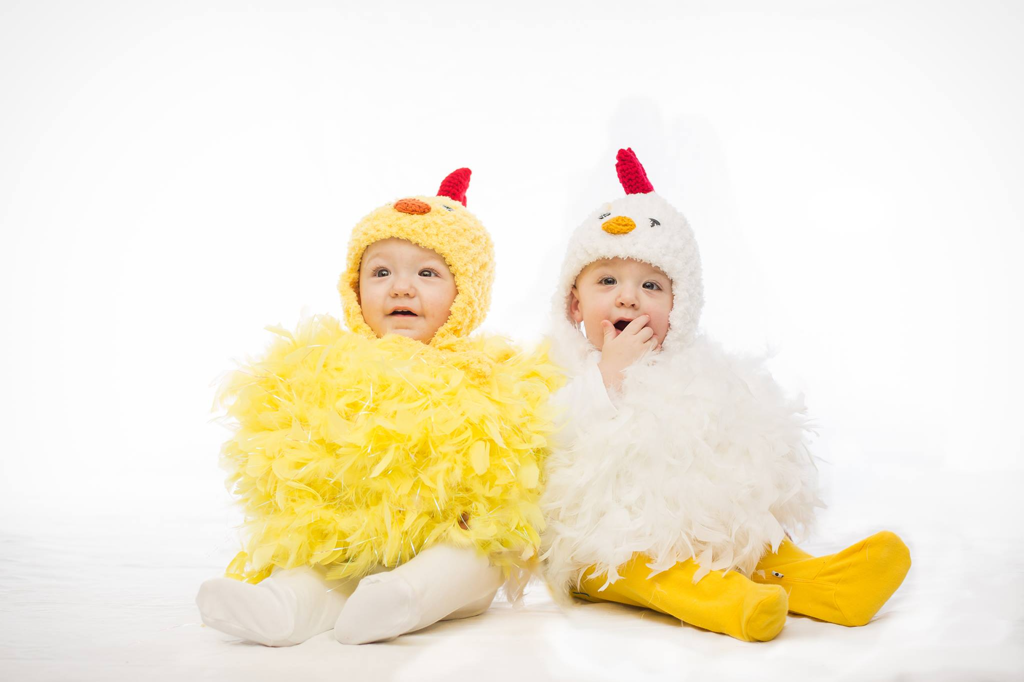 My little chickens! The boys first Halloween costumes & our inspiration for our logo!