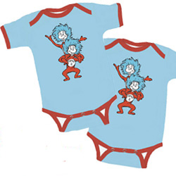 1b1c20812 Thing 1 and Thing 2 Short Sleeved Onesies - Set of 2 - BLUE/BLUE ...