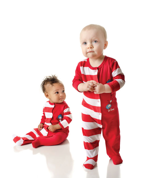 Dr. Seuss Thing 1   Thing 2 Footed Sleepers - Set of Two - Twin Baby ... fde06e649