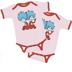 46a4c4415 Thing 1 and Thing 2 Short Sleeved Onesies – Set of 2 – PINK/PINK ...