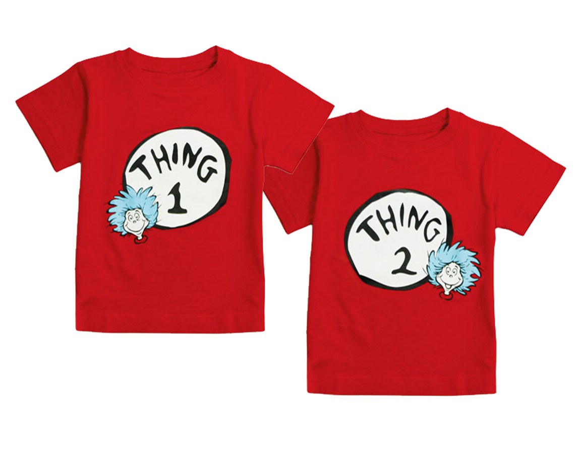 Thing 1 Thing 2 Twin Tee Shirts Set Of Two Twin Baby Bargains