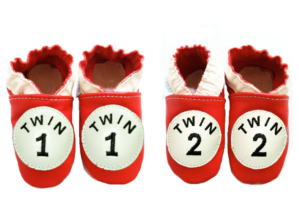 Twin 1 and Twin 2 Leather Shoes - Set - Twin Baby Bargains bb3f54eeb