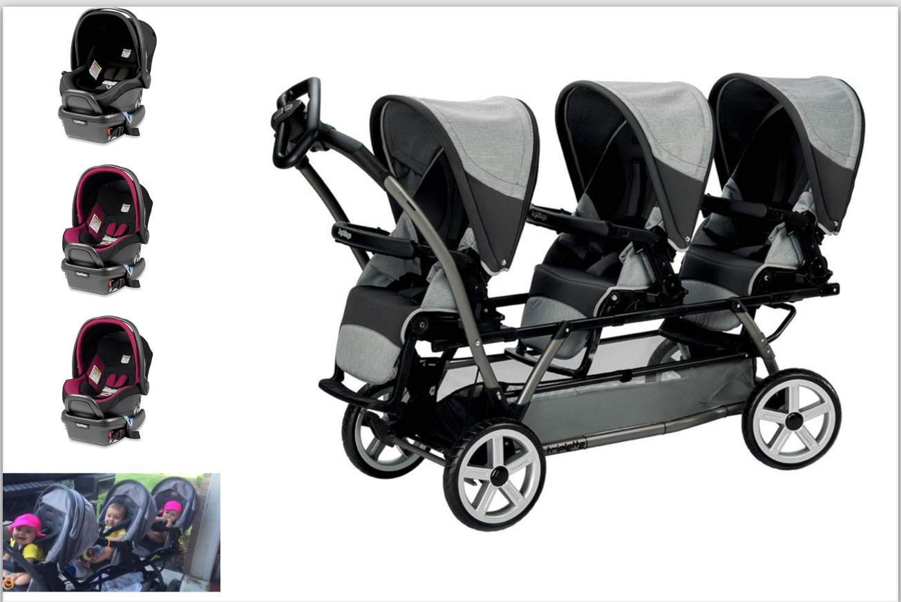 Peg Perego Complete Travel System Chassis With Steering