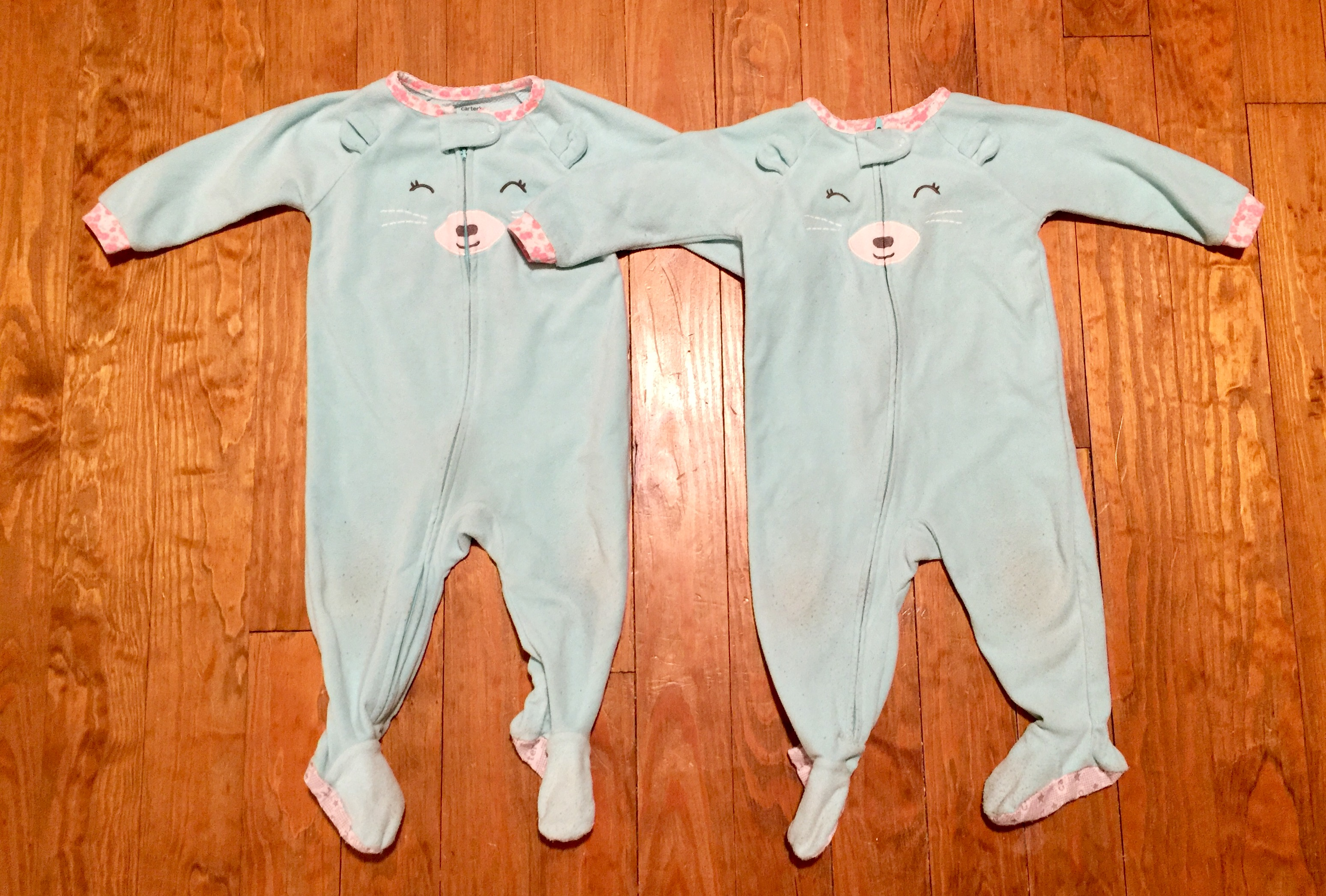 12m Footed Bear Pj S Twin Baby Bargains